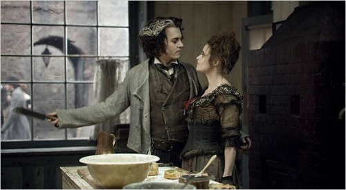 Johnny Depp & Helena Bonham Carter i Sweeney Todd