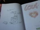 Lou i serieterapi - magiska signering av Julien Neel